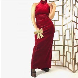Roberta Red Velvet Gown TPIB